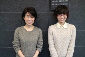 菊池先生(左)とインタビューワーのアイペット損保インターン 東京農工大学農学部獣医学科の安部(右)